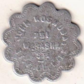 Obverse Image TC-151414: JOHN KOSHUBA, / 751 / WABASHA / ST. / ST. PAUL, MINN.